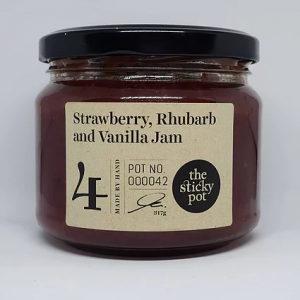 Strawberry, Rhubarb and Vanilla Jam