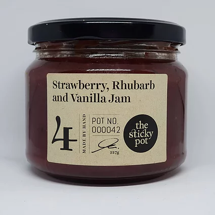 Strawberry, Rhubarb and Vanilla Jam