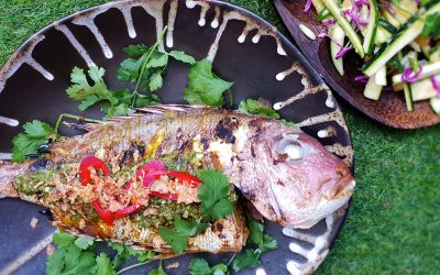 BBQ Whole Snapper with Nam Jim Sauce