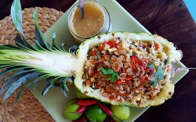 Duck Fried Rice with Pineapple & Cardamom Jam