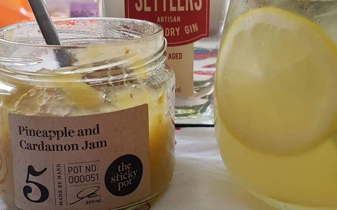 Summer Gin Jam Cocktail