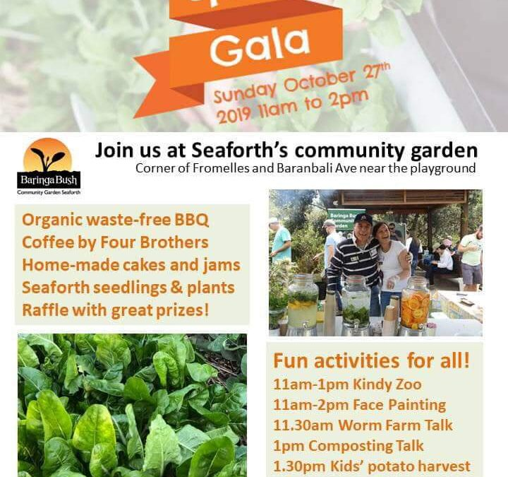 Catch us this Sunday at the Baringa Bush Community Garden Spring Gala